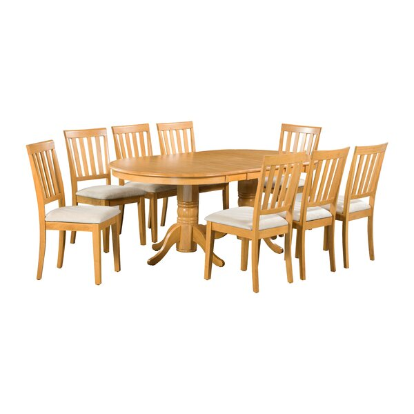 Inwood 9 Piece Extendable Solid Wood Dining Set by Darby Home Co Darby Home Co