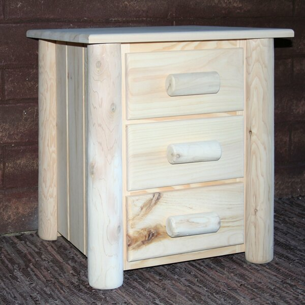 Coughlin 3 Drawer Nightstand by Loon Peak Loon Peak