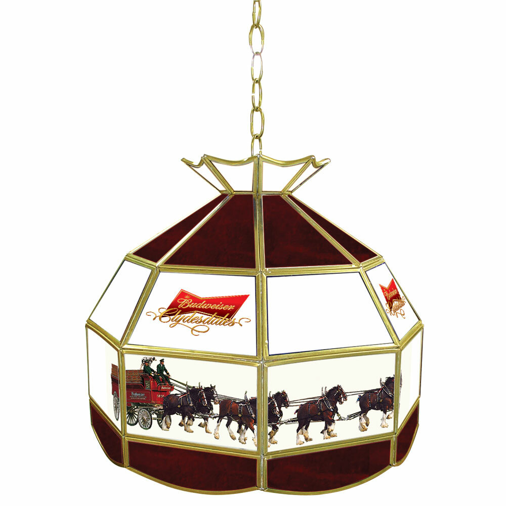 Trademark Global Budweiser Clydesdale Tiffany Lamp Light