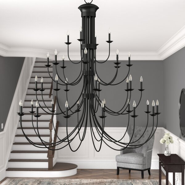 Carruthers 35 - Light Candle Style Tiered Chandelier By Winston Porter