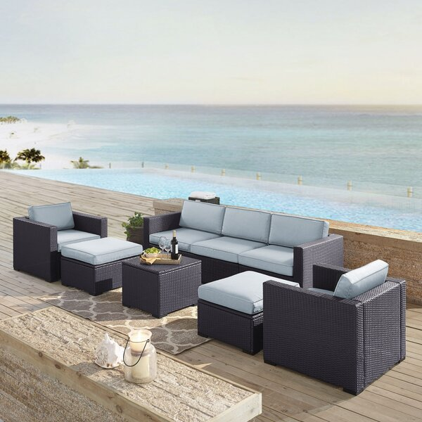Dinah 7 Piece Sectional Set with Cushions by Highland Dunes