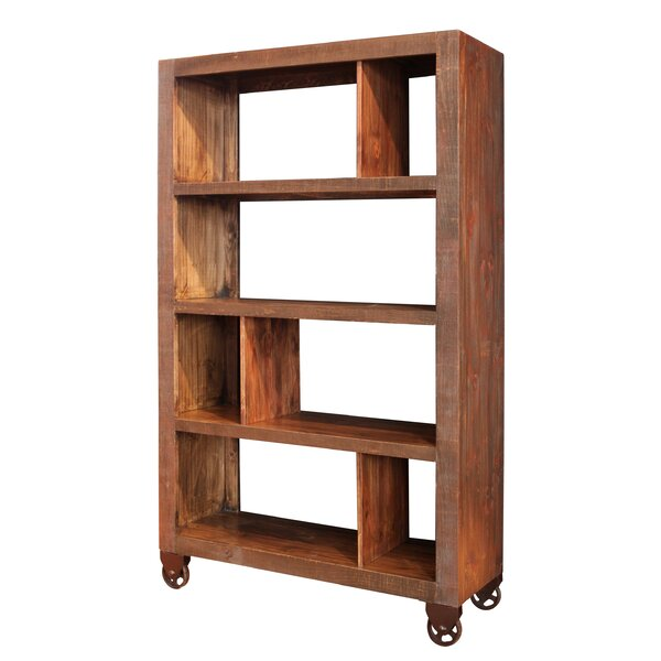 Stinnett Etagere Bookcase with 4 Shelves and Casters by Millwood Pines