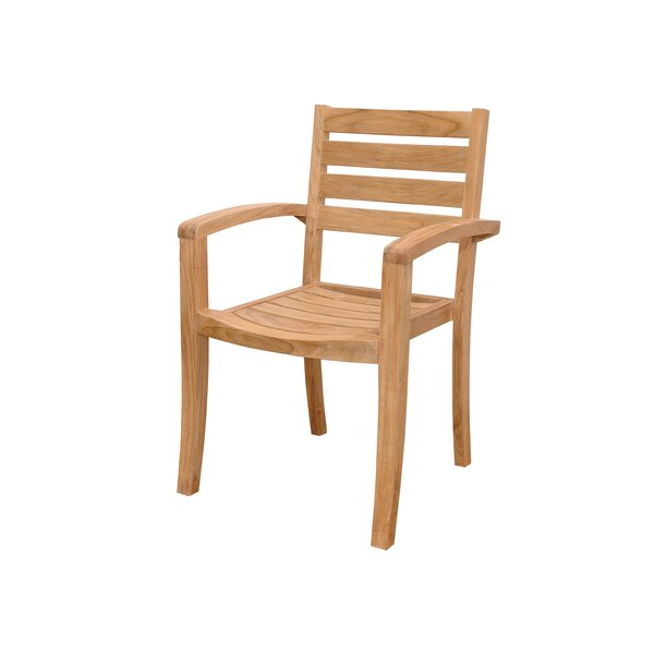 Catalina Stacking Teak Patio Dining Chairs (Set of 4) by Anderson Teak