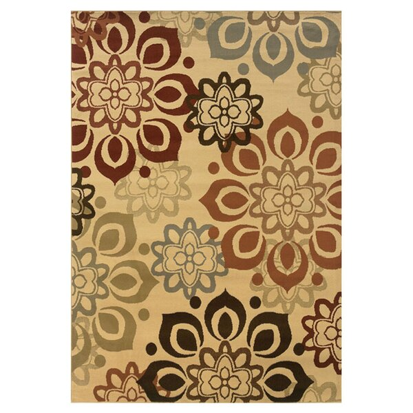 Harper Beige/Rust Area Rug by Threadbind