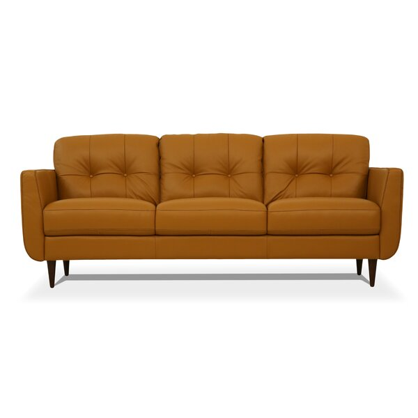 Bove Leather Sofa by Corrigan Studio