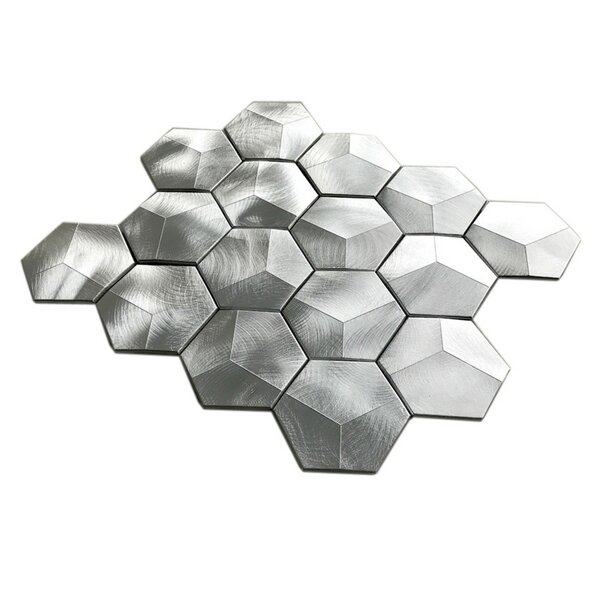 3 x 3 Metal Tile in Aluminum by Multile