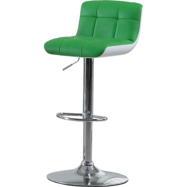 Adjustable Height Swivel Bar Stool by Hokku Designs