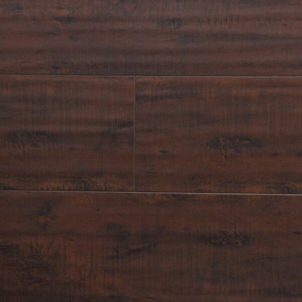 7 x 48 x 12.3mm Laminate Flooring in Antique Walnut by Serradon