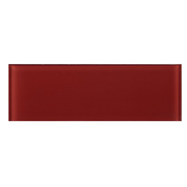 4 x 12 Glass Tile in Red by Multile