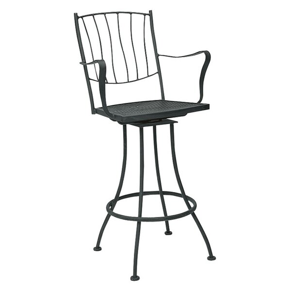 Aurora Swivel 29.2 Patio Bar Stool by Woodard