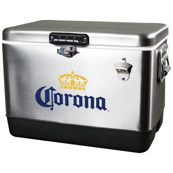 54 Qt. Corona Stainless Steel Ice Chest Cooler by