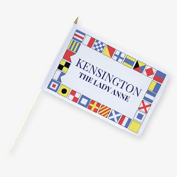 Personalized Kensington Patriotic 2-Sided Flag with Stick by Monogramonline Inc.