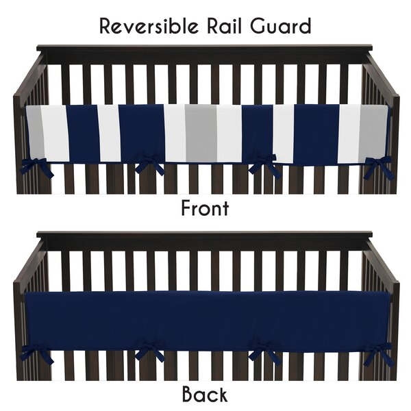 Stripe Long Crib Rail Guard Cover by Sweet Jojo Designs