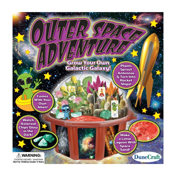 Outer Space Adventure Round Pot Planter by DuneCraft