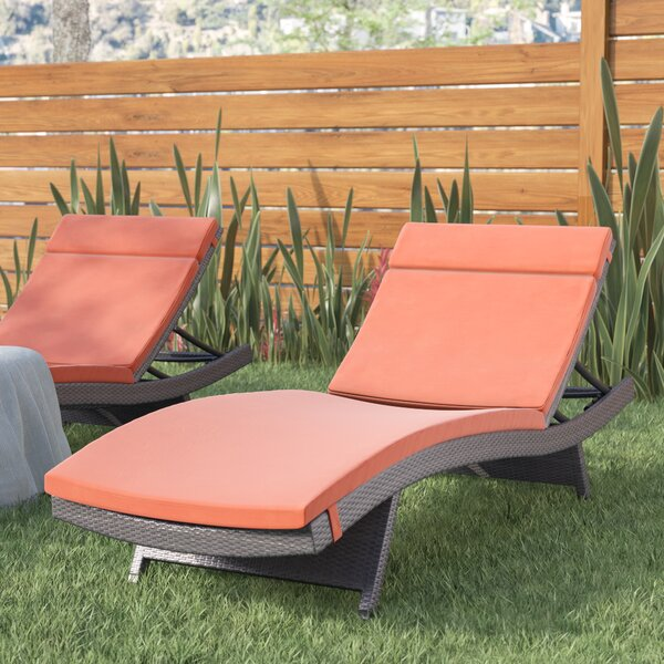 Hans Cagliari Wicker Chaise Lounge with Cushion by Brayden Studio