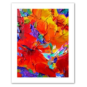 Charlits Floral'  Painting Print on Rolled Canvas by Zipcode Design