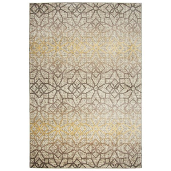 Culver Floral/Geometric Ivory Area Rug by Threadbind