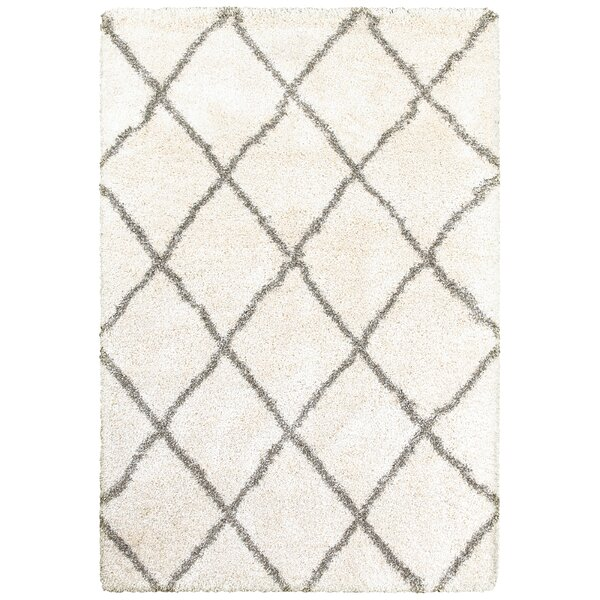 Sayer Ivory/Gray Area Rug by Wrought Studio