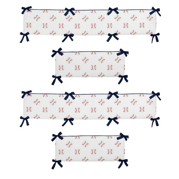 Baseball Patch 4 Piece Crib Bumper Set by Sweet Jojo Designs