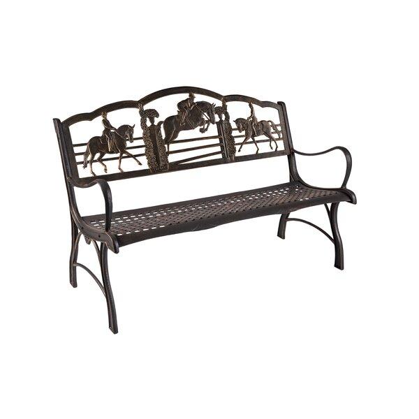 Cobb Equestrian Cast Iron Bench by Rosalind Wheeler