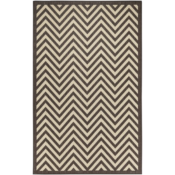 Hughes Brown/Beige Indoor/Outdoor Area Rug by Brayden Studio