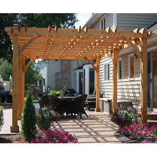 Outdoor Pergola Lights Pergola lights wayfair breeze solid wood pergola by outdoor living today workwithnaturefo