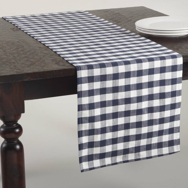 Gingham Design Table Runner by Saro
