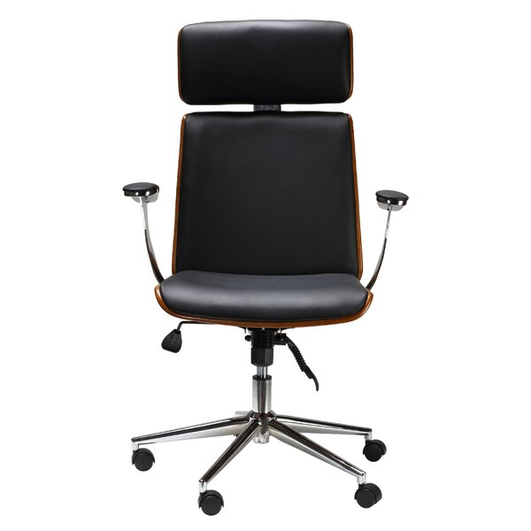 Redmayne Swivel Genuine Leather Office Chair by Brayden Studio