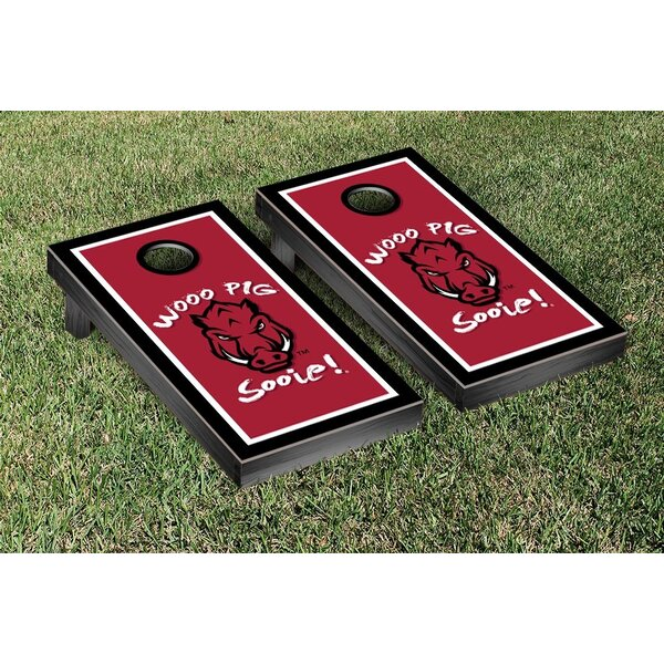 NCAA Arkansas Razorbacks Wooo Pig Sooie Version Cornhole Game Set by Victory Tailgate