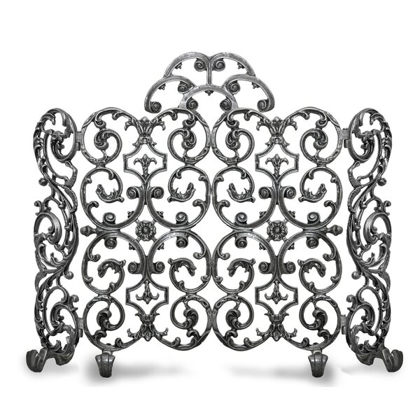 Avalon 2 Panel Iron Fireplace Side And Arch Screen By Ornamental Designs