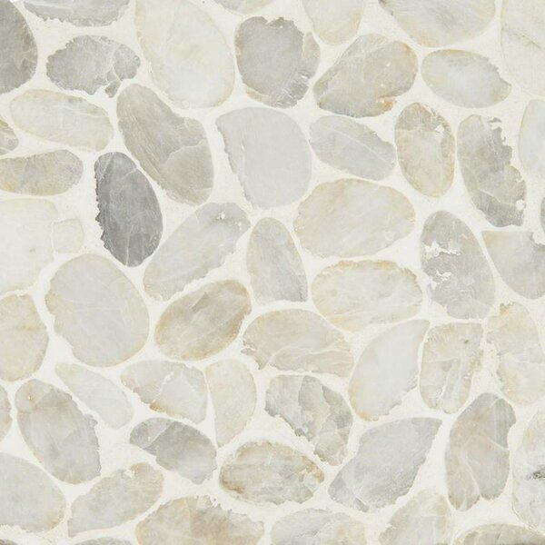 Dorado Pebble Tumbled Random Sized Marble Pebbles/Rocks Tile in White by MSI