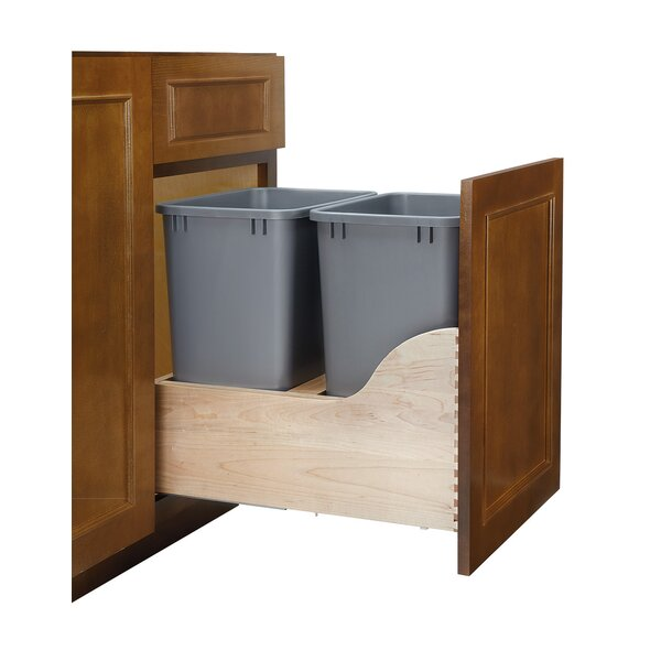 Wood Open Pull Out Trash Can by Rev-A-Shelf