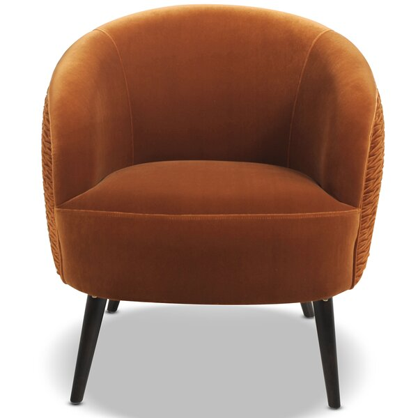 Kourtnee Ruched 19.5-inch Barrel Chair by Brayden Studio Brayden Studio