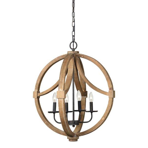 Collinsville 4 - Light Unique / Statement Globe Chandelier by Gracie Oaks Gracie Oaks