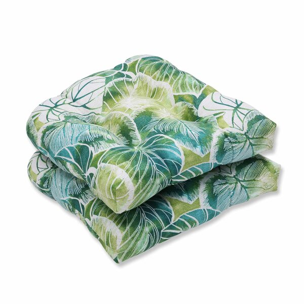 Key Cove Lagoon Indoor/Outdoor Dining Chair Cushion (Set of 2) by Pillow Perfect