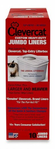 Top Entry Litter Box Liners (10 Pack) by Clevercat Innovations