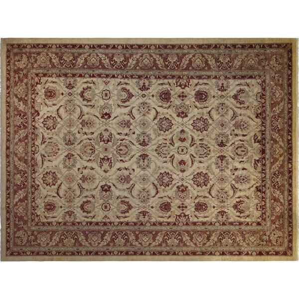 Xenos Hand-Knotted Wool Ivory/Light Brown Area Rug by Astoria Grand