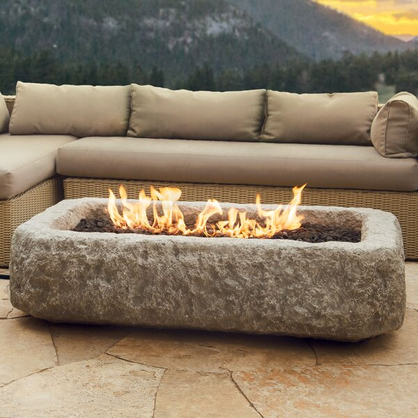 Limestone Propane Fire Pit by Real Flame
