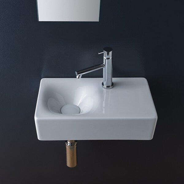 Cube Ceramic 17 Wall Mount Bathroom Sink by Scarabeo by Nameeks