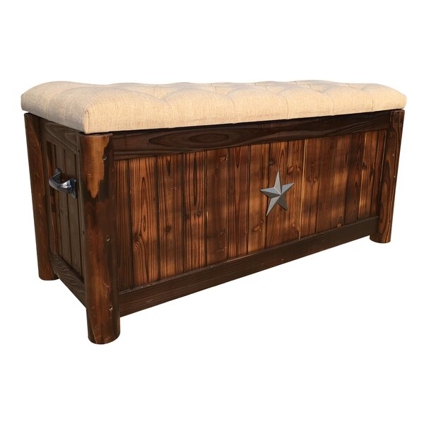 Char-Log Burlap Storage Bench by Leigh Country