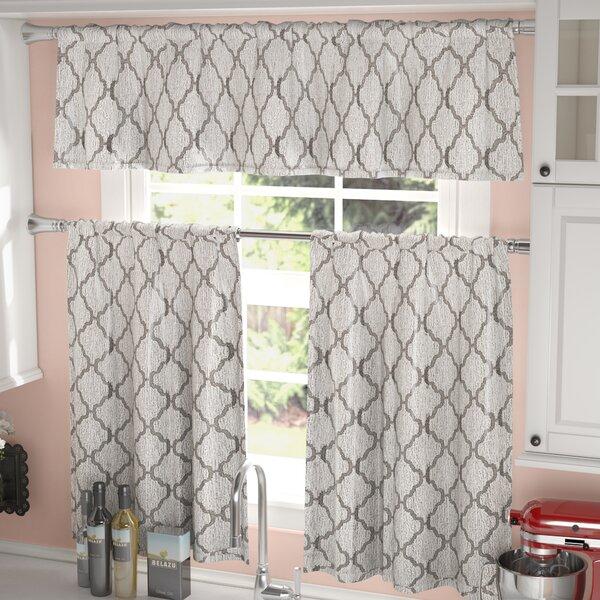 Blocker 3 Piece Kitchen Curtain Set by Darby Home Co