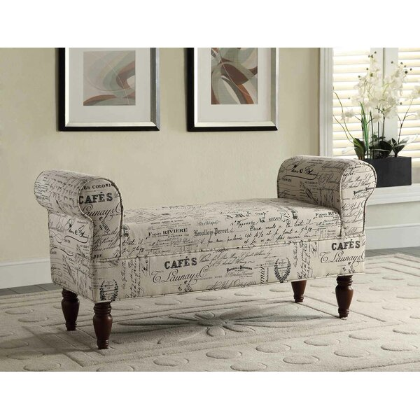 Aspell Upholstered Bench by Roundhill Furniture