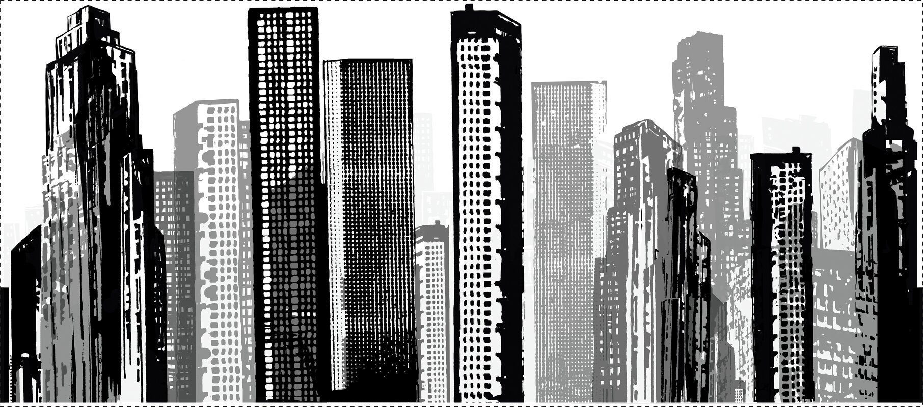 Room mates cityscape giant 18 x 3875 3d embossed wall mural cityscape giant 18 x 3875 3d embossed wall mural amipublicfo Gallery
