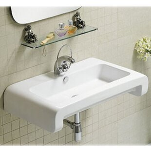 Reviews Isabella Ceramic 28 Wall Mount Bathroom Sink with Overflow By Whitehaus Collection