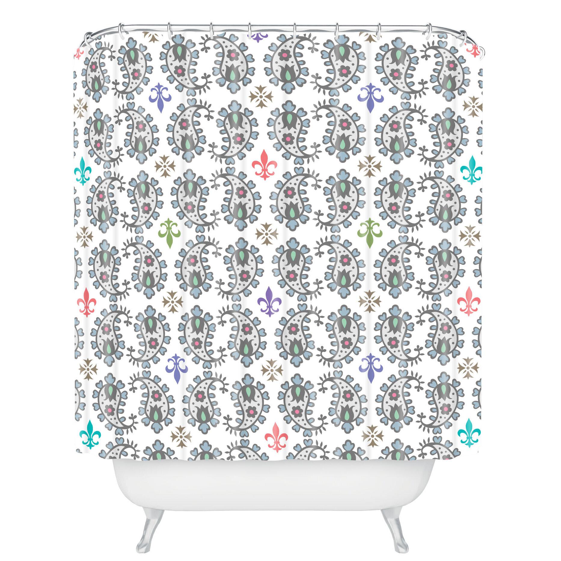 Deny Designs Andi Bird Paisley Ornamental Shower Curtain