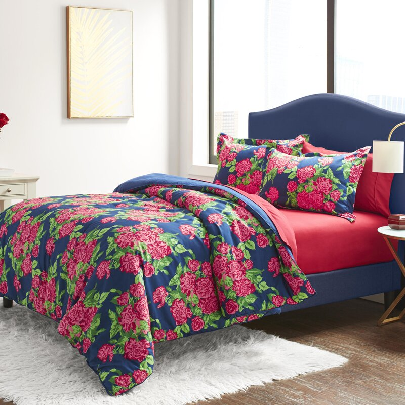 Betsey Johnson 6-piece Comforter Set Twin King Queen Banded Floral