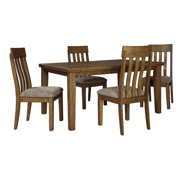Fia 5 Piece Extendable Dining Set by Millwood Pines Millwood Pines
