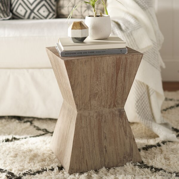 Leitha End Table by Wrought Studio