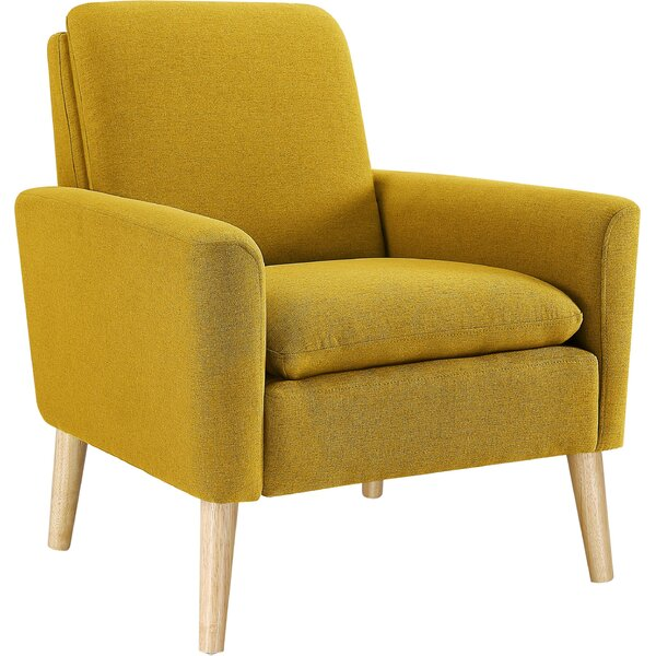 Magnificent Yellow Comfy Reading Chair Wayfair Machost Co Dining Chair Design Ideas Machostcouk
