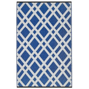 Buying Reva Dazzling Blue & White Indoor/Outdoor Area Rug By Zipcode Design